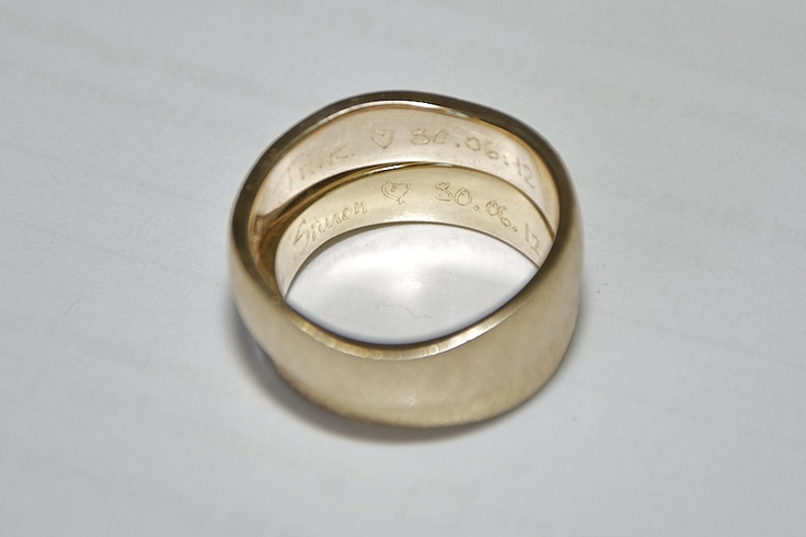 Wedding rings with handwritten inscriptions  #wedding #rings