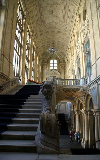 Palazzo Madama, Turin, Province if Turin, Piemonte region ItalyTreppenhaus von Filippo Juvarra (stairwell by Filippo Juvarra)