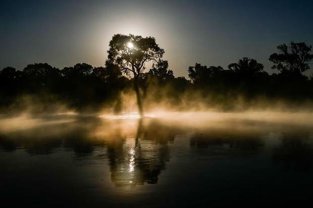 Wschód słońca w okolicy Słubic i Frankfurtu. fot.Mikołaj Nowacki