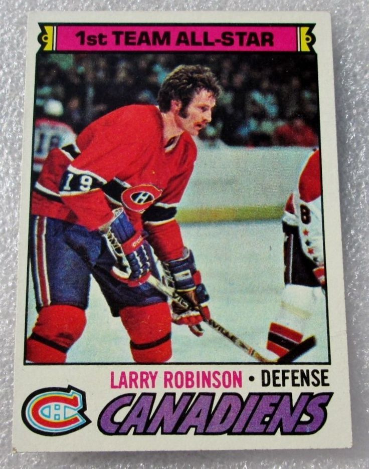 1977-78 ORIGINAL OPC LARRY ROBINSON FIRST TEAM ALL-STAR CARD! HALL OF FAMER N/M. #OPC #MontrealCanadiens