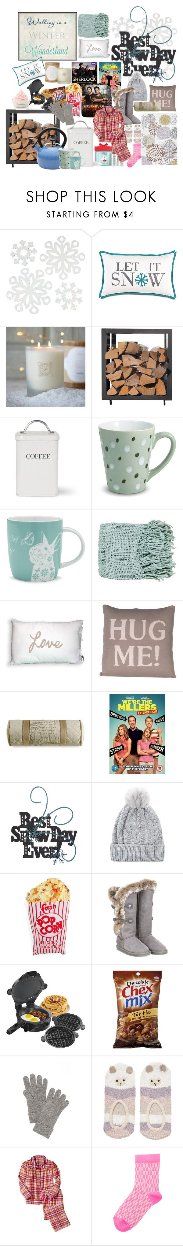 """""""Snowday"""" by bamaannie ❤ liked on Polyvore featuring WALL, Linnea, Paula Deen, Sur La Table, Surya, DCI, Australia Luxe Collective, Hamilton Beach, rag & bone and Disney"""