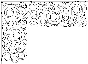 Modern Paisley border. Visit the site for more patterns (to buy).