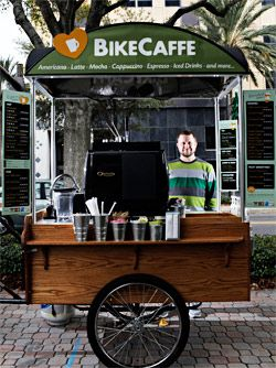 A lot of todays entrepreneur's seem to be in the mobile food business. BikeCaffe #entrepreneur
