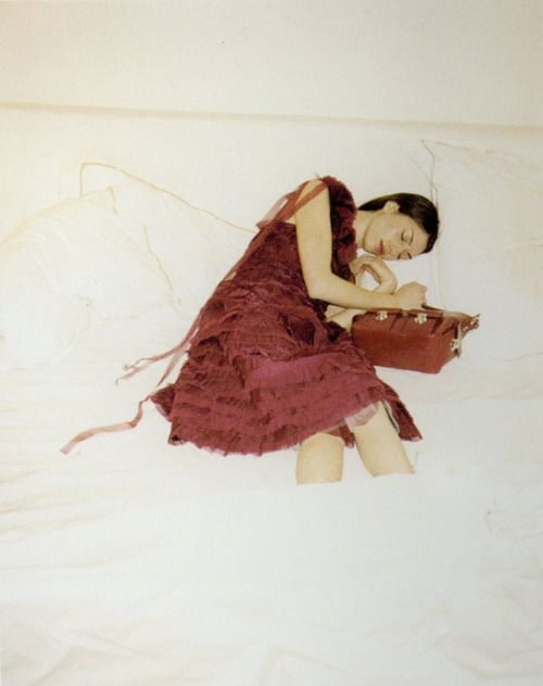 Juergen Teller. Sophia Coppola for Marc Jacobs. This campaign was flatbed scanned from Polaroid prints.