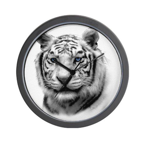 cafepress white tiger wall clock unique decorative 10 wall clock this is an - Feldstein Kaminsimse
