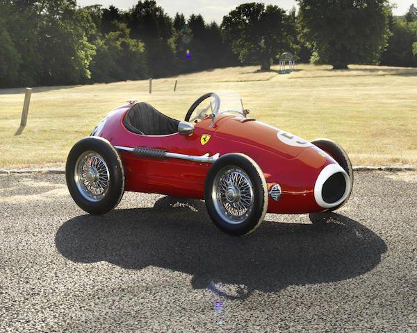 A Grand Prix Ferrari Pedal Car by Giordani, Italian,