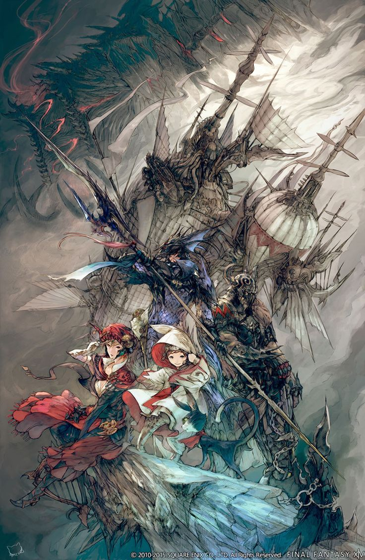 Promo Artwork from Final Fantasy XIV: Heavensward