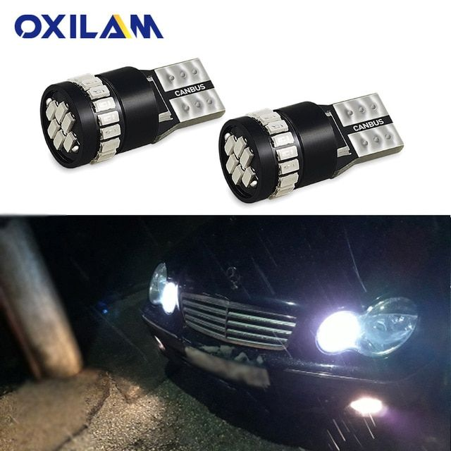 2x W5W T10 LED Clearance Parking Light for Mercedes Benz
