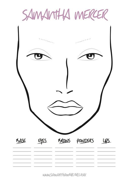 23 best Make-Up Charts images on Pinterest Artistic make up - blank t chart
