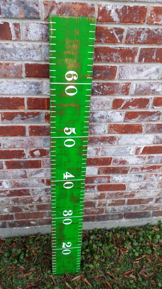I can make it for ~$10!!!  FOOTBALL GROWTH CHART Football Ruler Sports Growth by RouxBeeLu, $75.00 sports nursery decorations
