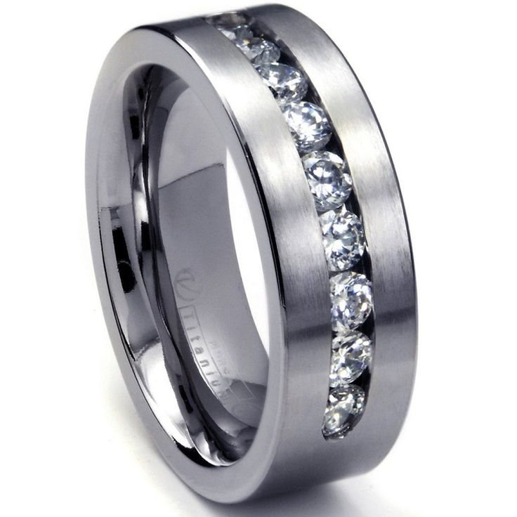 White Gold Mens Wedding Rings | Wedding, Promise, Diamond ...
