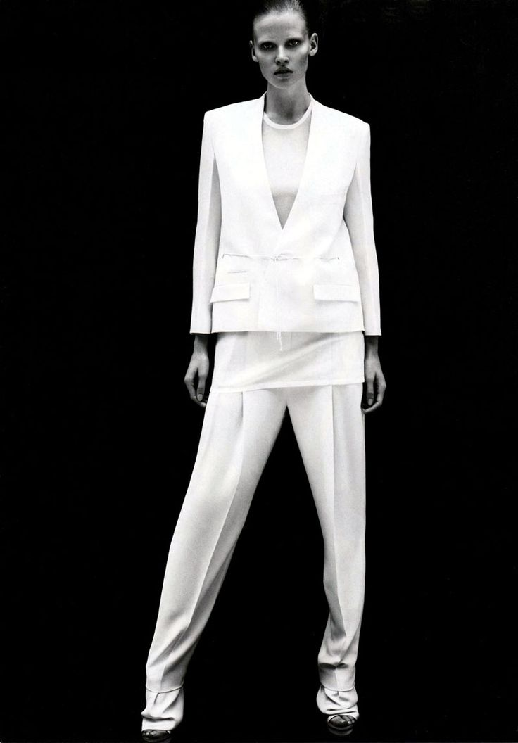 Calvin Klein Spring 2011 Campaign Preview | Lara Stone by Mert & Marcus  - why is the crotch of pants so low? is this sexy again?