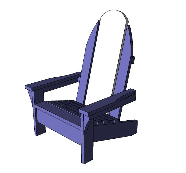 Child Sized Surf Board Adirondack Chair. Free step by step DIY plans from Ana-White.com #Plan