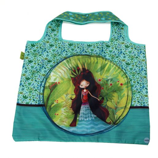 Sac d'Achats Repliable Femme-Loup KETTO Foldable Shopping Bag Wolf Lady // Polyester. Capacité de 10 kg. // Polyester. Capacity of 10 kg. // #SacRepliable #FoldableBag #Ketto