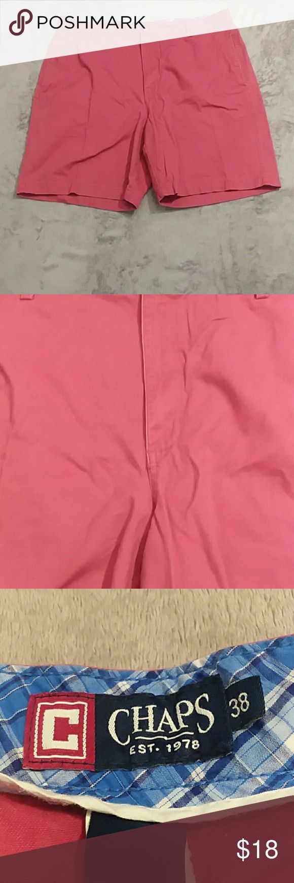Chaps men's size 38 flat front red shorts Chaps men's size 38 flat front red shorts Chaps Shorts Flat Front