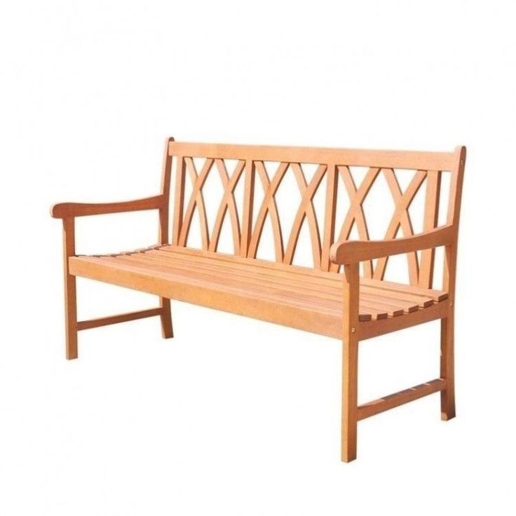 Outdoors Garden Bench 5 Ft Natural Wood Patio Furniture Porch Weather Resistant #OutdoorsGardenBench