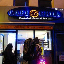 Cafe Grill Restaurant - London, United Kingdom. The front of the place