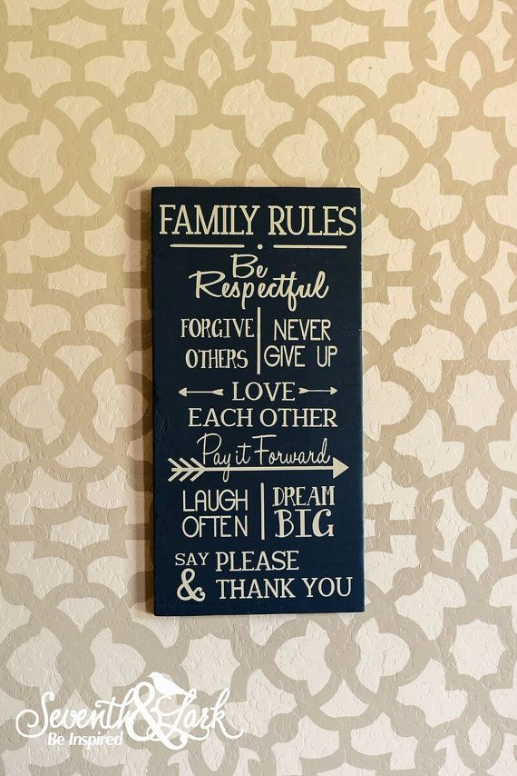 41 best seventh and lark photos images on pinterest craft kits diy kit family rules wooden sign supplies craft kit family rules in this house supply kit do it yourself kit solutioingenieria Choice Image
