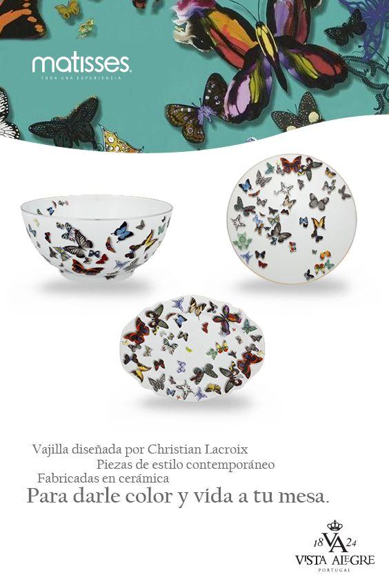 Las piezas de vajillas exclusivas de Vista Alegre también harán para de #MatissesComplementos.