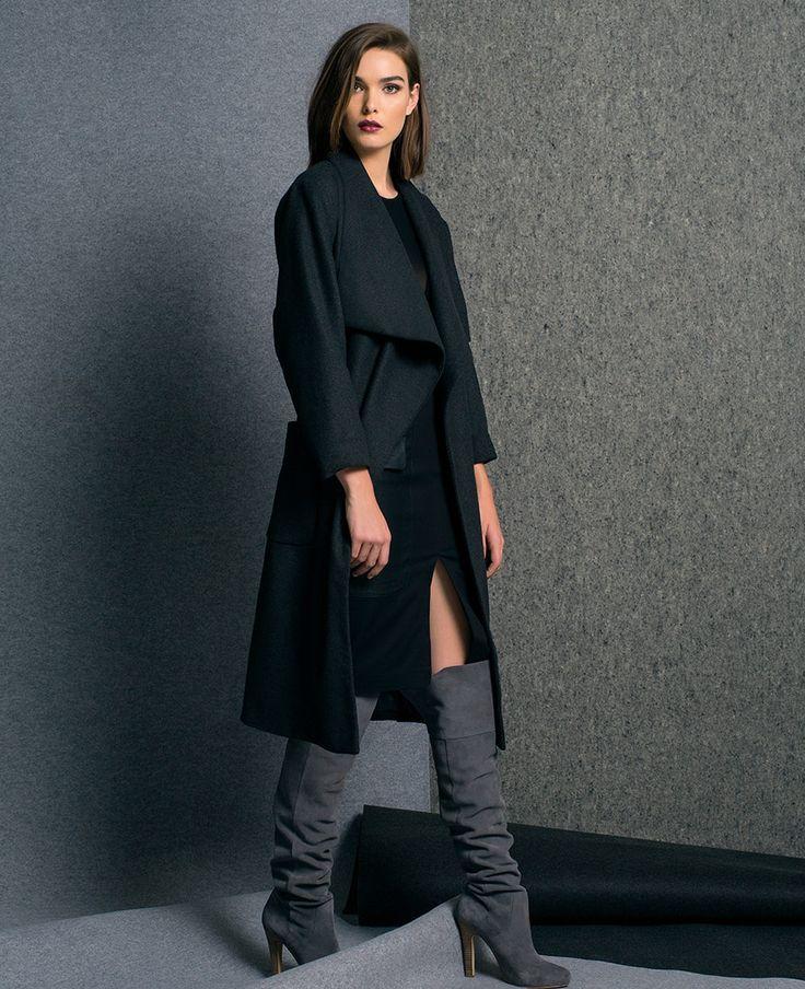 Luxe Drape Coat - PRE ORDER - Bardot