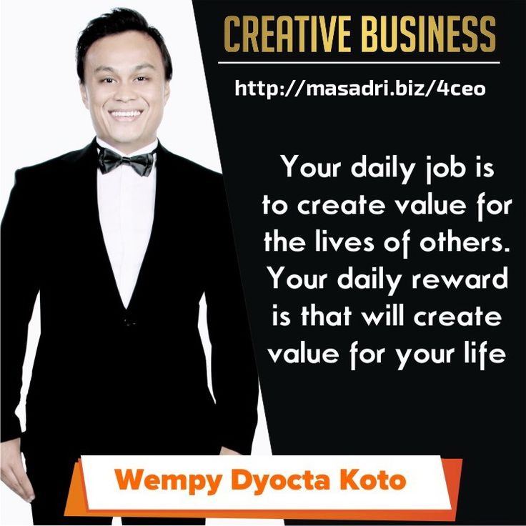 create values! #motivasibisnis