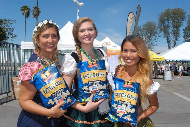 There's nothing like some sunshine and Gaslamp Popcorn at Samuel Adams Octoberfest 2015! | Costa Mesa, California