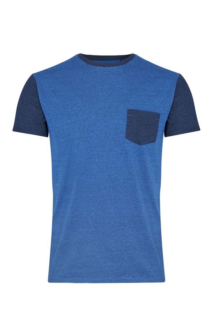 Primark - Blue Grindle Contrast T-Shirt