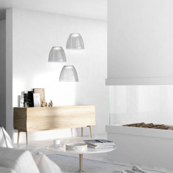 Moderne LED Acryl-Pendelleuchte Tenuto Grau PHILIPS 409048716 - inspirationen küchen im landhausstil