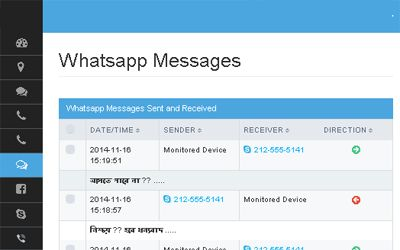 MobiTracker allows you to track WhatsApp messages on any mobile device that take place through the target phone.