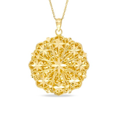 Gold Floral Filigree Medallion