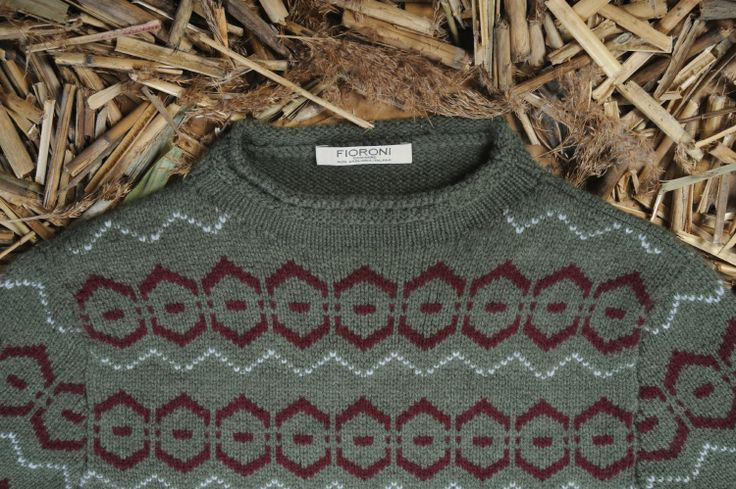 This is the #Eskimo fisherman's knit, representing a desire for freedom, a connection with nature and dreams of change. Its colours and geometry are emblematic of profound roots.