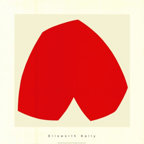 Red White, c.1962 by Ellsworth Kelly. Serigraph from Michelle Adams' Inspiring Insider galleries on Art.com.