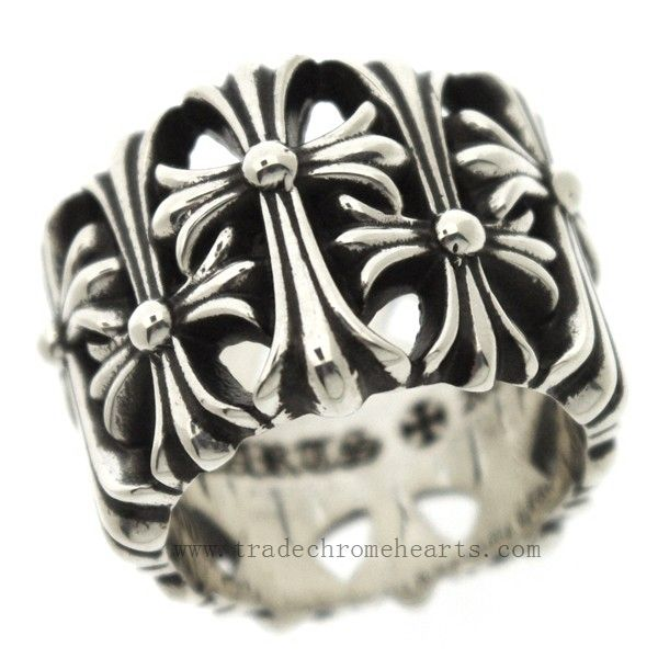 2013 Chrome Hearts Cemetery Cross Floral Ring Chrome Hearts is an American luxury brand, founded in 1988 by motorcycle enthusiast Richard Stark, that specializes in high-end silver jewelry, leather clothing and furniture with gothic rock motifs. Chrome Hearts Cemetery Cross Floral Ring http://www.tradeschromehearts.com/chrome-hearts-ring-cemetery-cross-floral-cheap-online-p-262.html