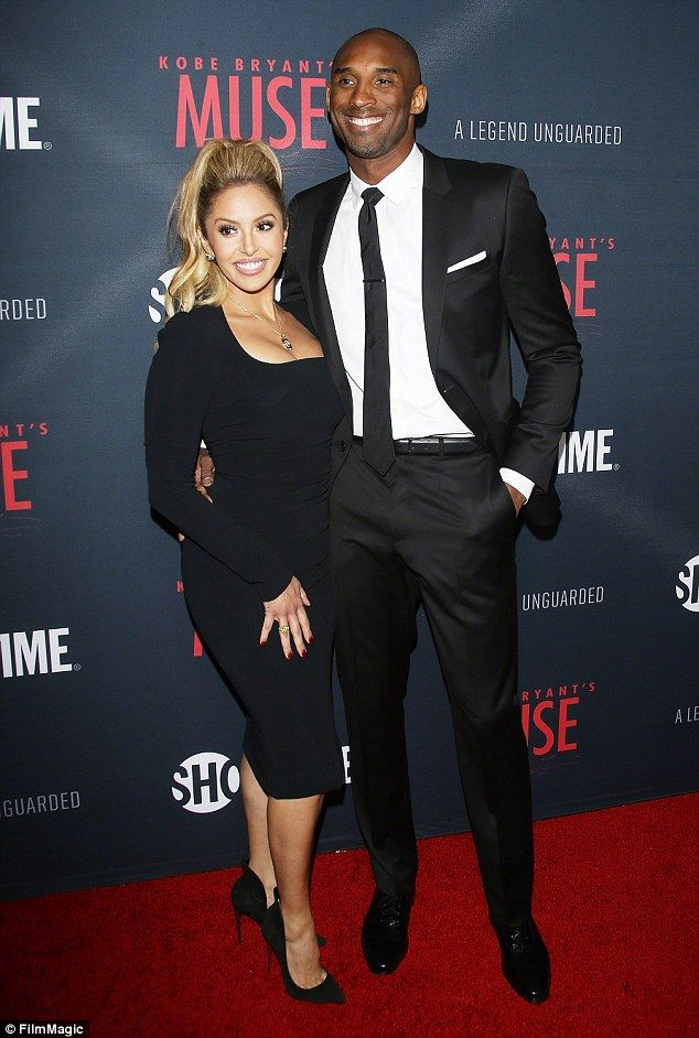 LA Laker Kobe Bryant and his wife Vanessa at the premiere of his documentary