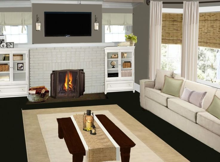 living room with fireplace smart virtual room painter ideas