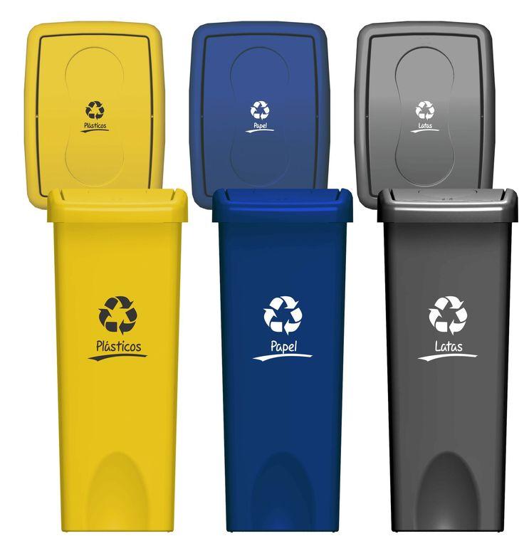 Tapa Vaivén, 53 litros, 6 colores disponibles, con estampado de concepto a Reciclaje, disponible en Chile