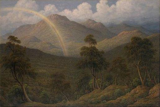 Mount Wellington with Orphan Asylum, Van Diemen's Land, John Glover, 1837