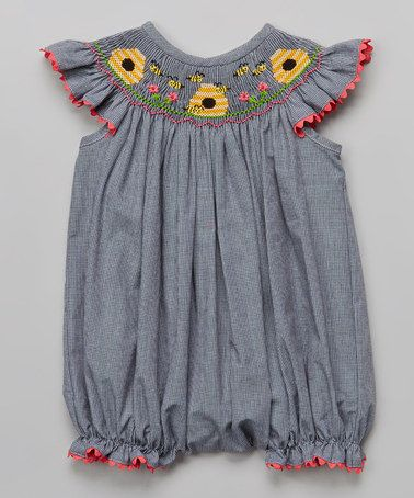 Look at this #zulilyfind! Black Gingham Beehive Bubble Bodysuit - Infant & Toddler #zulilyfinds
