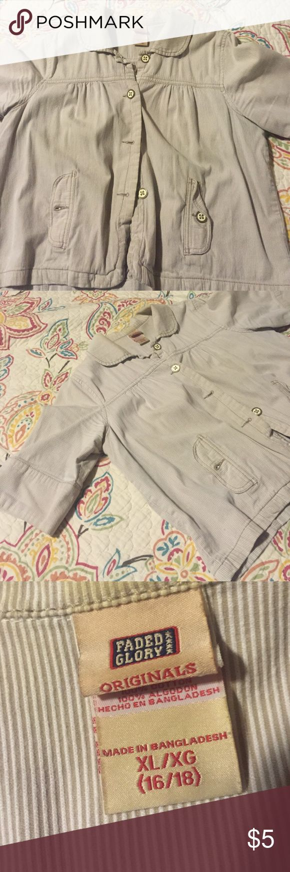 Adorable jacket! Re-poshing. Didn't wear it too much.  Looks great with denim jeans or a skirt. Faded Glory Jackets & Coats Blazers