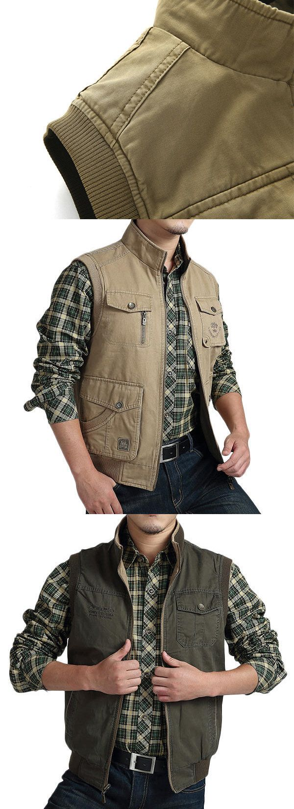 Old School Outdoor Vest for you. 2 Colors Optional, Best Gift For Him.
