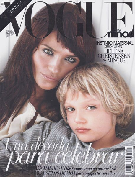 Helena Christensen and son Mingus, Vogue cover