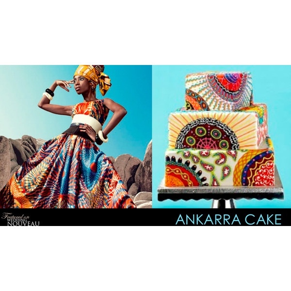 Wedding Nouveau - Dress and cake inspired by West Africa found on Polyvore