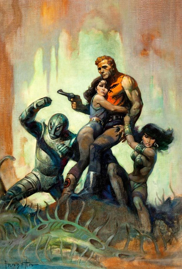 If so, this would be the first outing of the Frazetta paintings since they went…