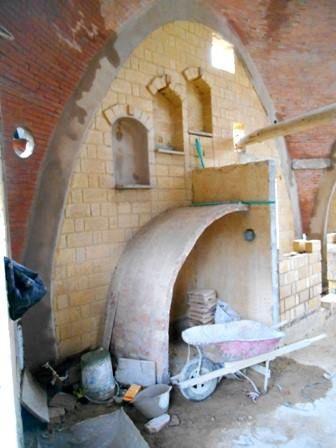 arco para comienzo de la escalera catalana sin formaleta ni hierro...una solución maravillosa..