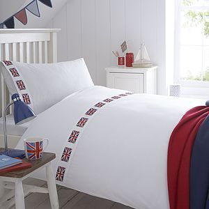 Union Jack Flag Organic Bed Linen - bedroom