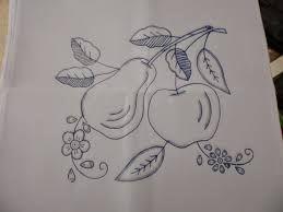 Resultado de imagen para manteles bordados a mano de frutas
