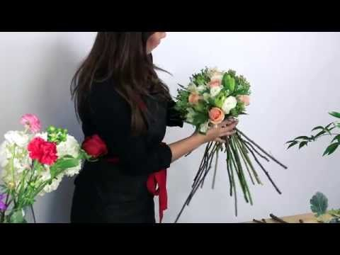 Flower Arrangement Tutorial: Simple Hand Tied Flowers - YouTube