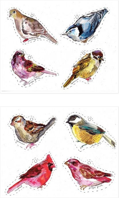 Watercolor Bird Gift Tags | 51 Seriously Adorable Gift Tag Ideas