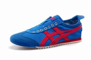 Onitsuka Tiger Mexico 66 Slip On Shoes Blue Red