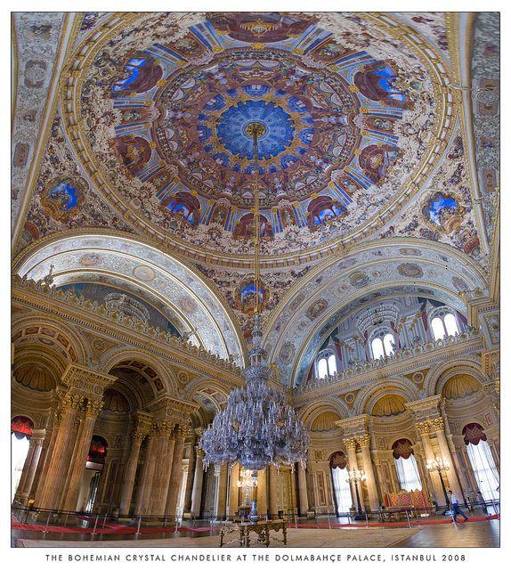 Salão de Eventos do Palácio Dolmabahce - Istambul, Turquia